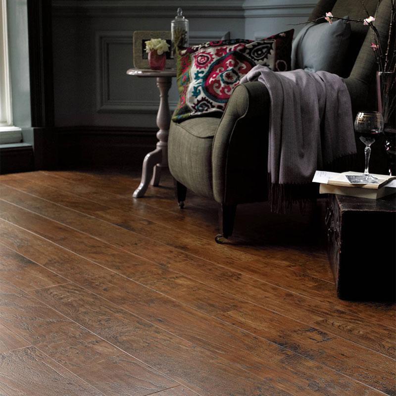 Karndean luxury vinyl tile hard flooring detail in a lounge