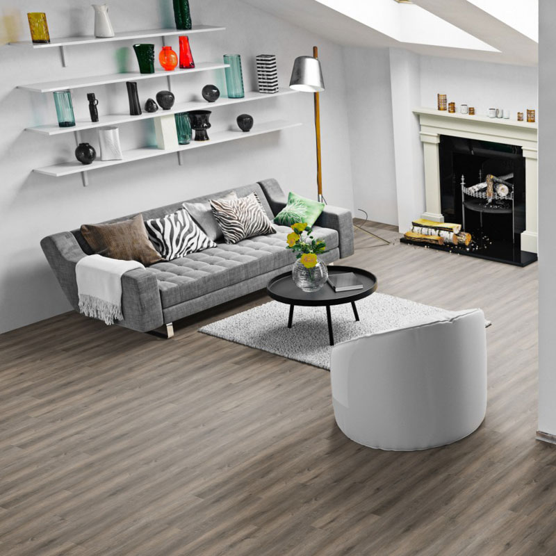 Designer lounge interior with Luxury Vinyl Tiles by ONE FLOR EUROPE