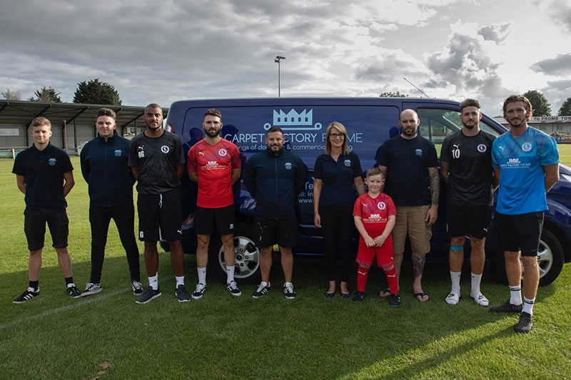 Carpet Factory Frome team - sponsors of The Robins football club
