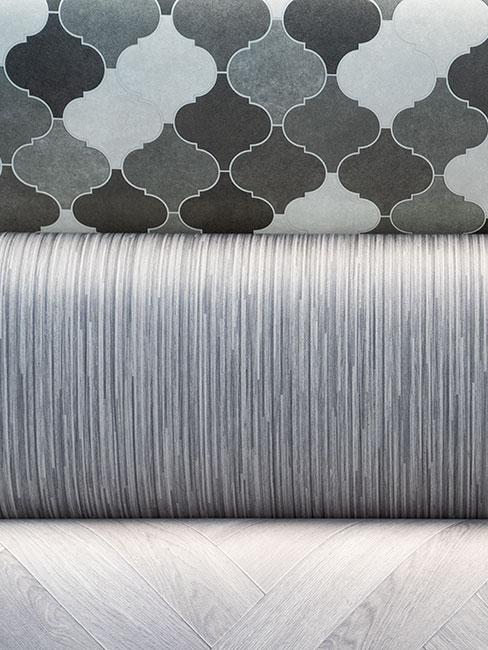 Rolls of vinyl flooring in the Carpet Factory Frome showroom