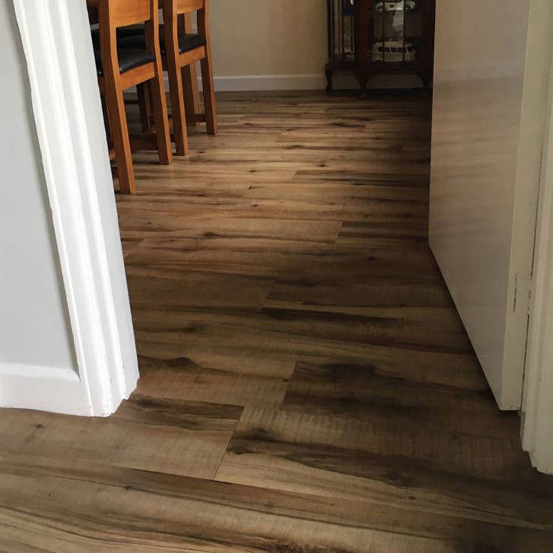 Dining room hard flooring fitted by Carpet Factory Frome