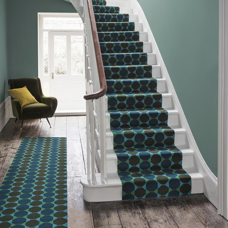 Lucienne Octagon wool carpet and runner Alternative Flooring available at Carpet Factory Frome