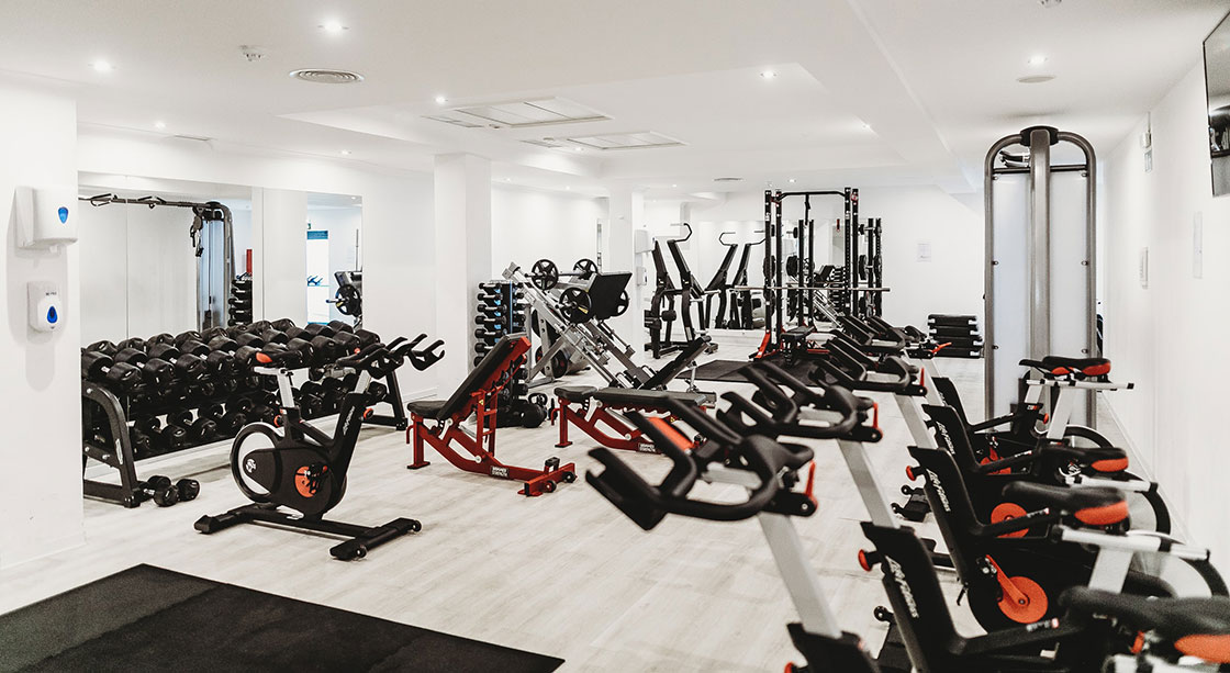 Gym with high quality contract flooring